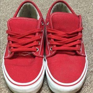 red vans shoes men